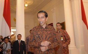 Le président indonésien Joko Widodo au Palais présidentiel à Jakarta, le 20 octobre 2014