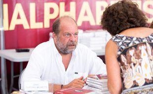 Eric Dupond-Moretti, lors d'un salon du livre en 2018.