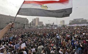 Les manifestations ont réuni plus d'un million de personnes dans toute l'Egypte (ici la place Tahrir, au Caire) le 1er février 2011.