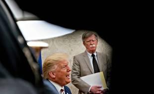 Donald Trump et son désormais ex-conseiller à la sécurité nationale, John Bolton, dans le Bureau ovale, le 20 août 2019.