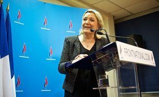 La président du Front national Marine Le Pen, le 23 mars 2014.