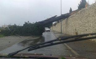 La tempête dans l'Ardèche le 20 juillet 2014