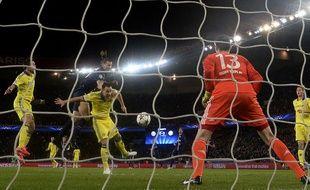 Thibaut Courtois a été brillant avec Chelsea face au PSG (1-1), 8e de finale de Ligue des champions, le 16 février 2015.