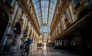Un livreur à Milan, en période de confinement. (illustration)