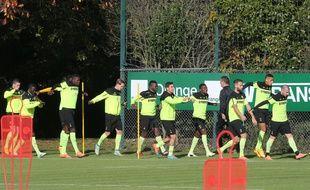 Les Canaris à l'entraînement à la Jonelière (archives).
