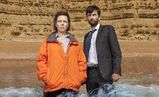 Extrait de la saison 2 de la série britannique «Broadchurch» avec Olivia Coleman et David Tennant.