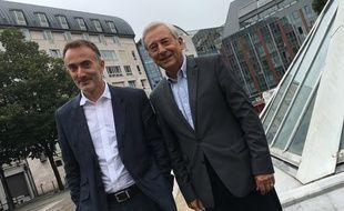 E. Vervaecke à à g.) et D. Delmotte, directeur et président d'Eurasanté Lille