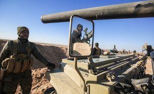 Des combattants irakiens près de Mossoul, le 18 février 2017.