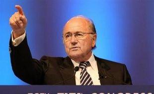 Le président de la FIFA Sepp Blatterlors du 58e congrès, le 30 mai à Sydney