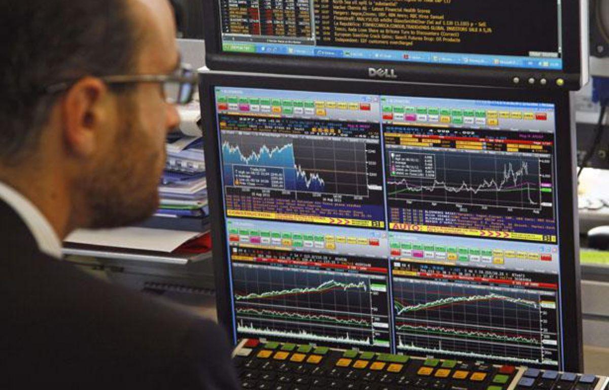Un trader à la Bourse de Paris. – Francois Mori/AP/SIPA