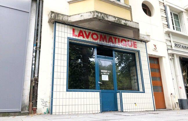 L'intérieur de la laverie Lavomatique de la place de Bretagne, à Rennes, a été ravagé par un incendie le vendredi 18 septembre 2020.