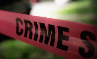 Sécurisation d'une scène de crime, le 26 mai 2017 à Chicago, aux Etats-Unis.