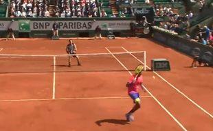 Capture d'écran du point de Kyrgios