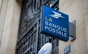 Le logo de La Banque postale, à Paris le 30 octobre 2018.