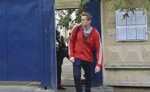 Alexei Navalny quitte le centre de détention à Moscou, le 14 juin 2018.