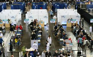 Le centre de vaccination de Saint-Quentin-en-Yvelines, le 27 mars 2021.