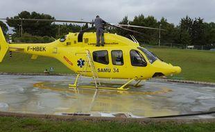 L'hélicoptère du Samu 34 (Illustration)