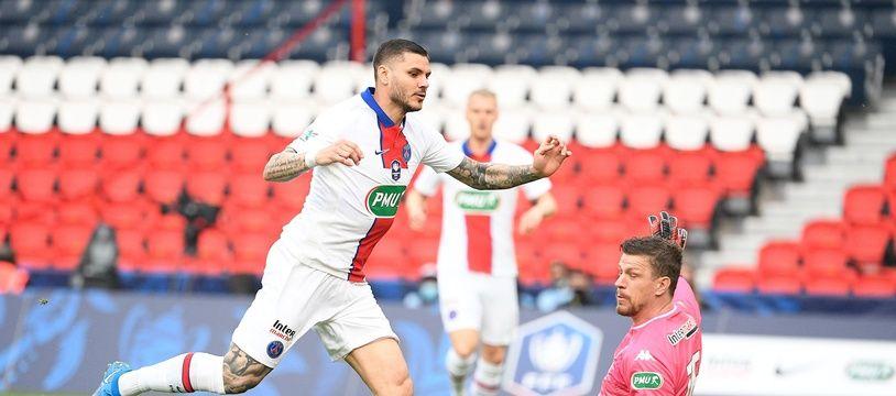 Mauro Icardi a inscrit un triplé contre Angers