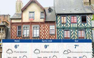 Météo Rennes: Prévisions du jeudi 4 avril 2019