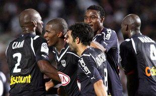 Les Bordelais après le but d'Anthony Modeste face à Marseille, le 29 août 2010