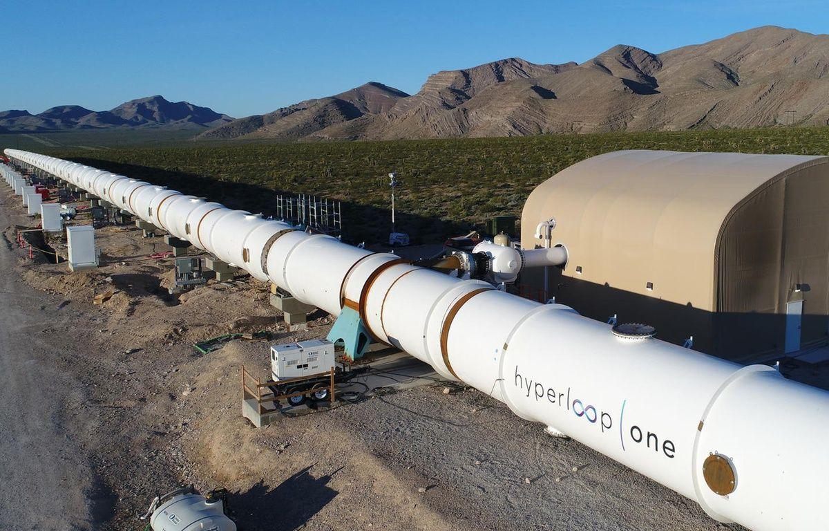 Le centre de test de la société Hyperloop One, dans le Nevada. – HYPERLOOP ONE