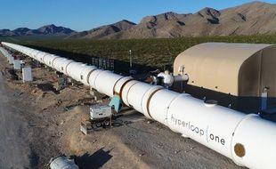 Le centre de test de la société Hyperloop One, dans le Nevada.
