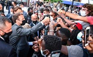 Emmanuel Macron, le 8 juin 2021, à Valence dans la Drôme
