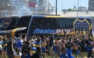 Le car du Boca a été pris pour cible par les supporters de River Plate
