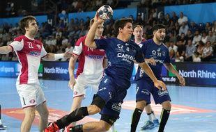 Diego Simonet, ici en phase de poule de la Ligue des champions,a inscrit le but vainqueur en demi-finale de la Ligue des champions contre les tenants du titre de Skopje.