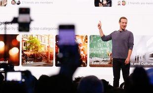 Mark Zuckerberg, créateur de Facebook, lors de sa dernière présentation, le 30 avril 2019.