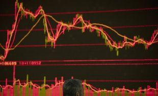 Un monitor de marché financier. (Illustration)