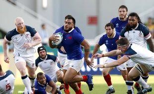 France-Etats-Unis, deuxième match des Bleus dans la Coupe du monde de rugby.