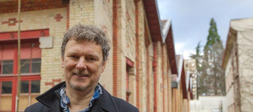 Michel Gondry, le 14 janvier 2014, à Aubervilliers.