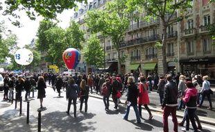 Paris, le 19 mai 2015, certains enseignants sont descendus dans la rue pour dire leur opposition à la réforme du collège portée par Najat Vallaud-Belkacem.
