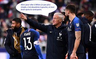 Deschamps encourage Giroud à quitter Chelsea pour retrouver du temps de jeu.