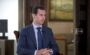 Bachar al Assad, le président syrien en septembre 2016. Vendredi 6 avril 2017, la présidence syrienne a qualifié les frappes américaines sur une base militaire syrienne d'«acte idiot et irresponsable».