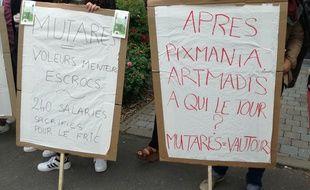 Les salariés d'Artmadis avaient manifesté devant le siège de l'entreprise, à Wasquehal.