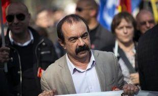 Philippe Martinez (CGT) lors de la manifestation contre l'austérité le 17 mars 2015 à Paris