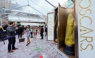 Les préparatifs des 86e Oscars, à Los Angeles, le 3 février 2014.