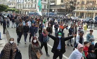 Manifestation à Alger le 26 février 2021.