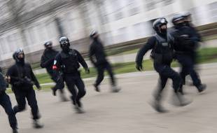 Des policiers de la brigade anticriminalité (BAC), lors d'une manifestation à Nantes, en janvier 2020 (photo d'illustration).