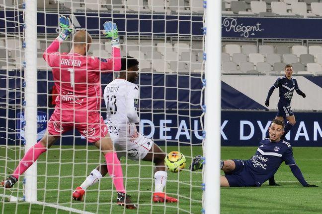 Rémi Oudin inscrit le premier de ses buts buts contre Lorient.