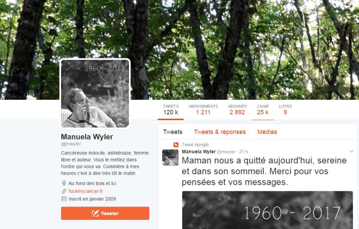Le compte Twitter de Manuela Wyler était suivi par plus de 2.000 followers. – Capture d'écran/Twitter