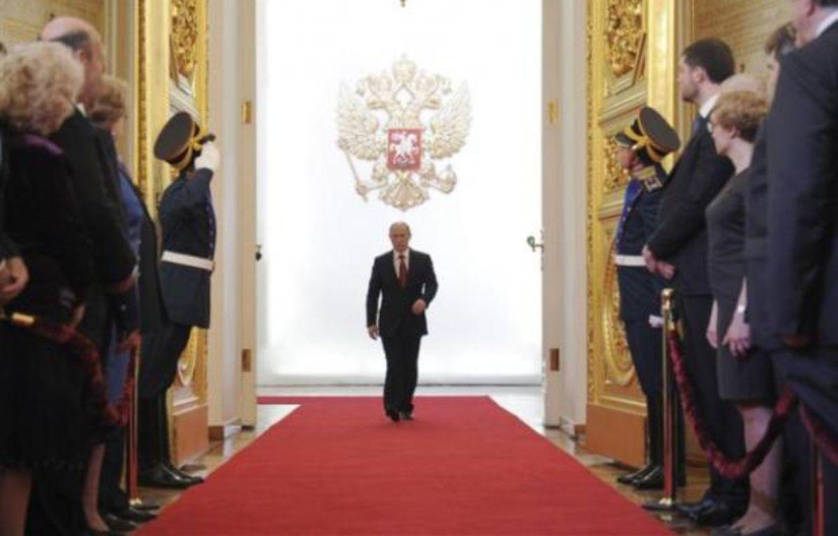 Vladimir Poutine, lors de la cérémonie d'investiture à la présidence russe, le 7 mai 2012 au Kremlin, à Moscou. – REUTERS/ RIA Novosti