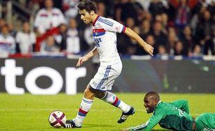Le meneur de jeu de l'OLYoann Gourcuff, le 29 octobre 2011, contre Saint-Etienne.