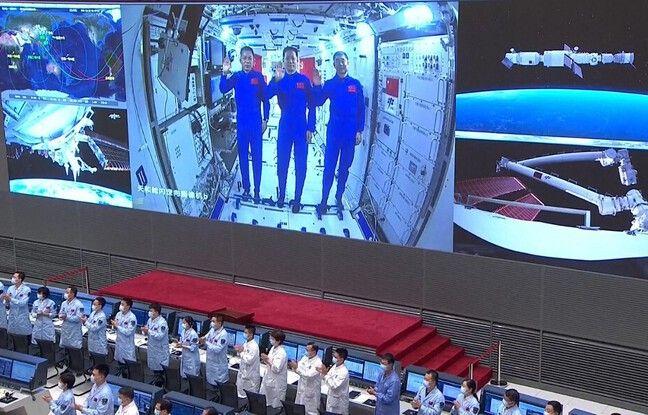 648x415 vu depuis centre spatial chinois trois astronautes chinois station spatiale fin juin
