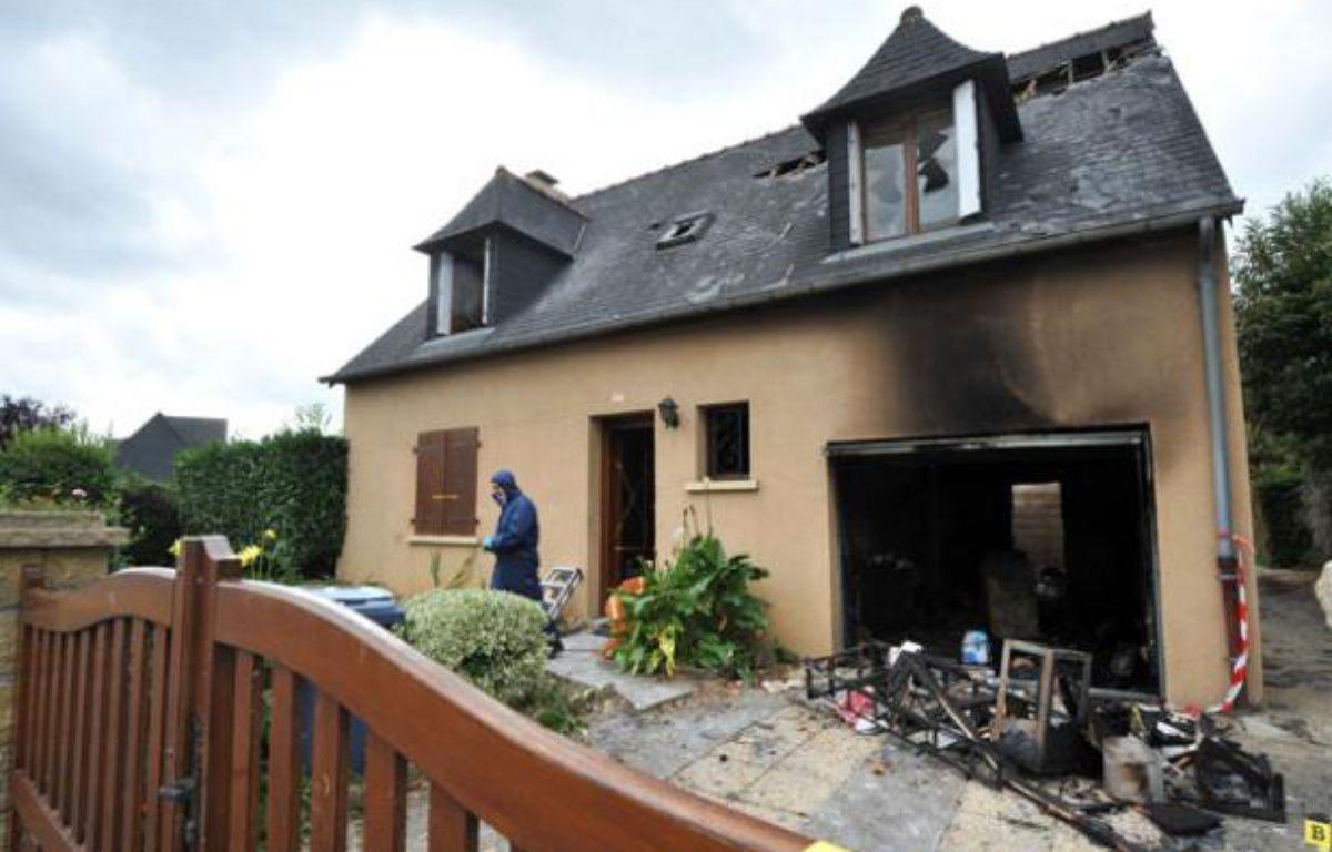 Le paville de l'homme de 58 ans qui a semé la terreur à Mélesse, le 31 juillet, en Ille-et-Vilaine. – F. PERRY / AFP