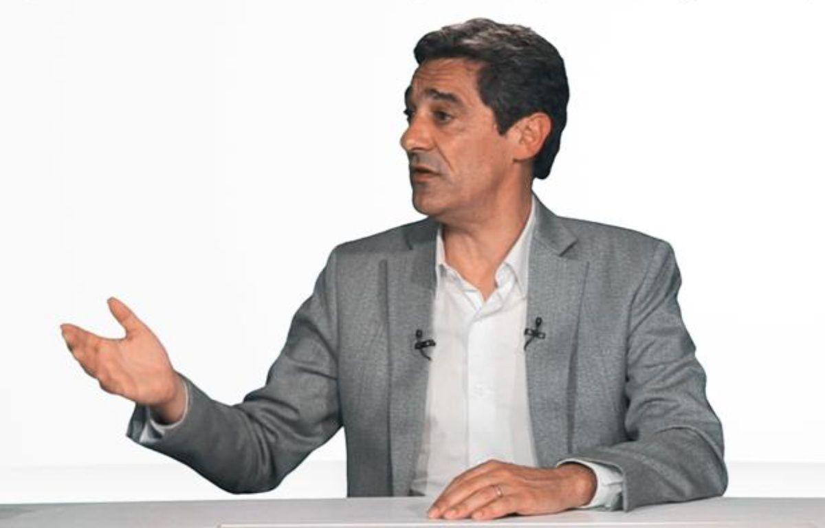 Serge Papin, PDG du groupement Système U dans le studio de «20Minutes» le 03 mai 2012. – DR/20Minutes