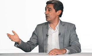 Serge Papin, PDG du groupement Système U dans le studio de «20Minutes» le 03 mai 2012.