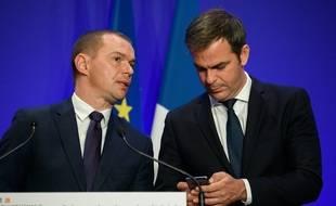 Olivier Dussopt et Olivier Véran le 24 septembre 2021.